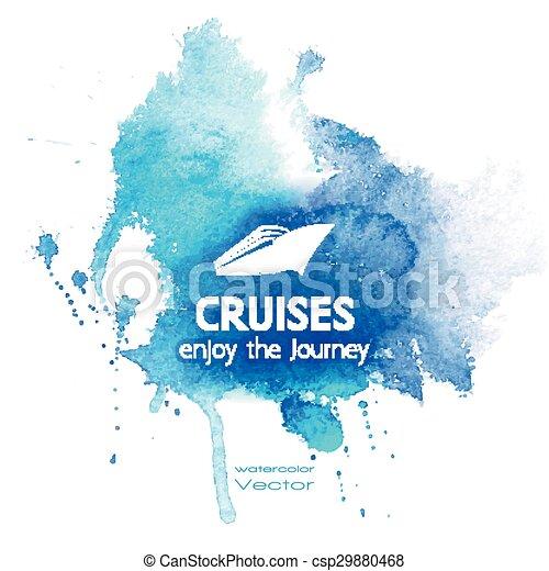 Watercolor Blue Texture - csp29880468