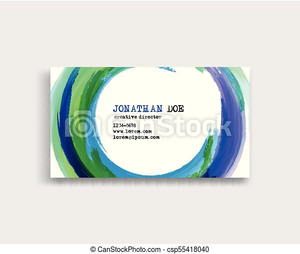 Watercolor business card template vector color eps vector watercolor business card template csp55418040 reheart Gallery