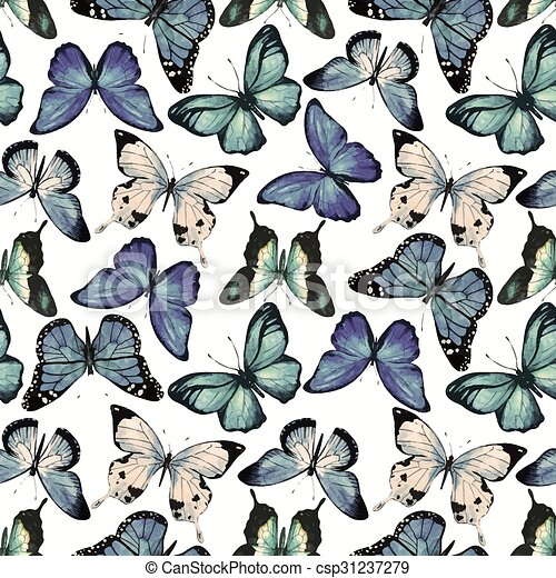 Watercolor Butterfly Pattern Vector Beautiful Vector Pattern With Extraordinary Butterfly Pattern