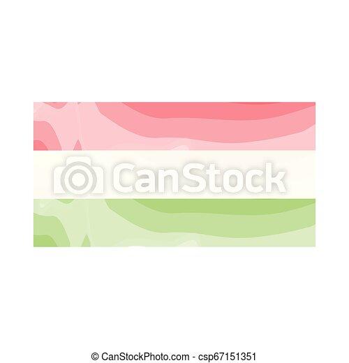Watercolor flag of Hungary - csp67151351