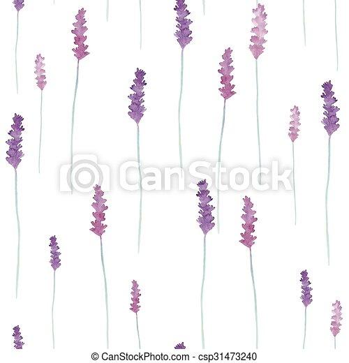 Watercolor flowers pattern. - csp31473240