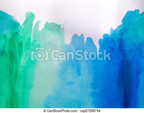 watercolor, geverfde, abstract, achtergrond - csp27298744
