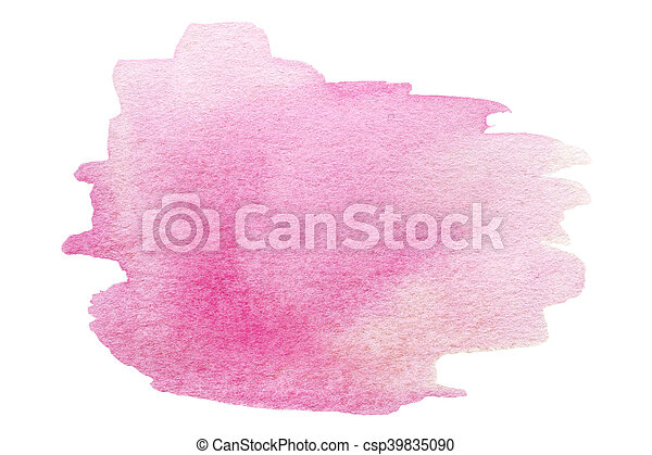 Watercolor Hand Painted Background. Wet Watercolor Wash. Abstract Water-color Background. Ombre Watercolour Backdrop, stain, drop - csp39835090