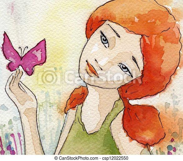 watercolor illustration - csp12022550