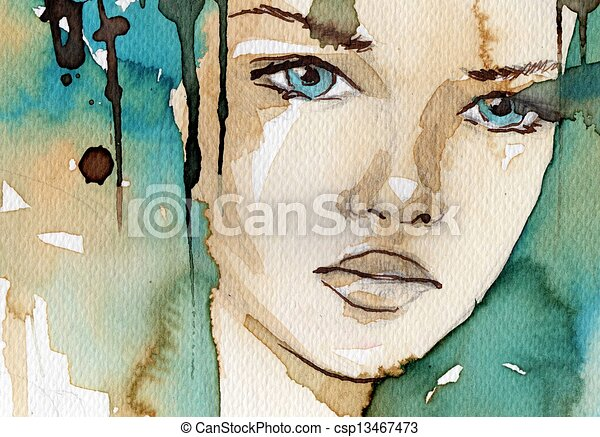 watercolor illustration - csp13467473