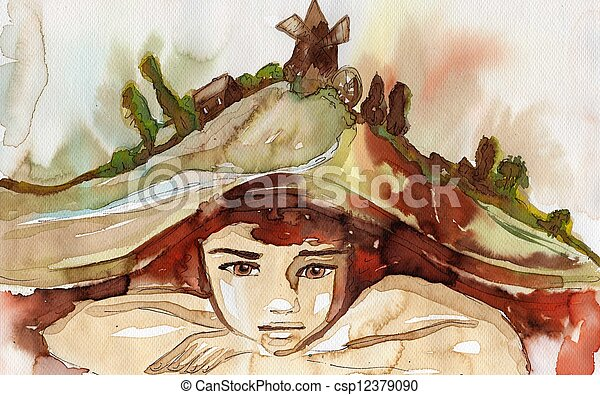 watercolor illustration - csp12379090