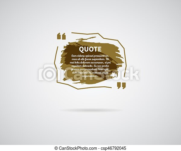 watercolor ink splash quote blank template quote bubble empty