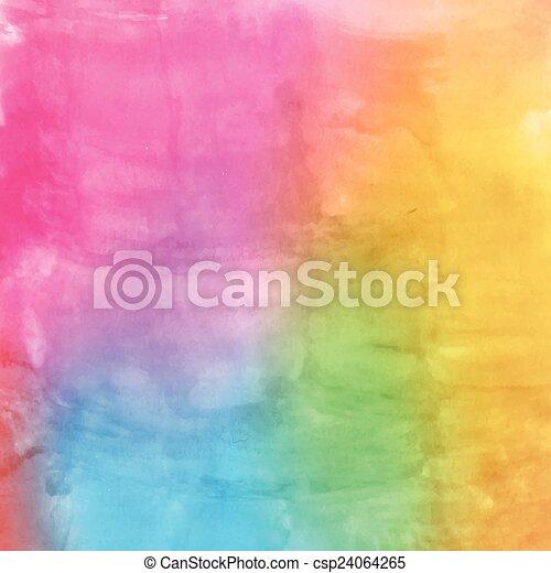 Watercolor multicolor - csp24064265