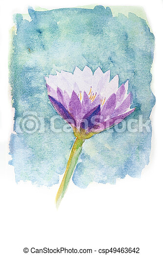 Watercolor of lotus flower abstract watercolor illustration of watercolor of lotus flower csp49463642 mightylinksfo