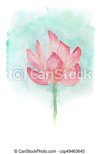 Watercolor of lotus flower abstract watercolor illustration of watercolor of lotus flower csp49463645 mightylinksfo