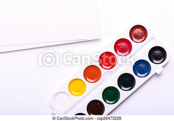 Watercolor paint - csp26473228