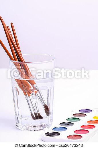 Watercolor paint - csp26473243