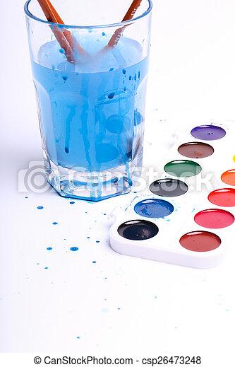 Watercolor paint - csp26473248