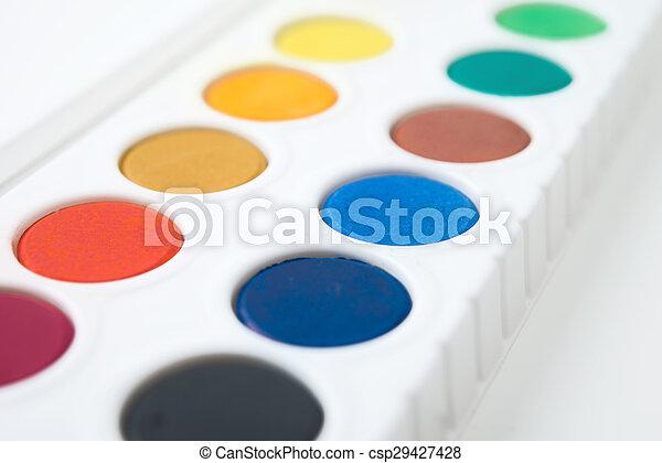 watercolor paint - csp29427428