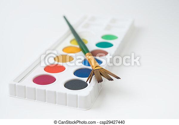 watercolor paint - csp29427440