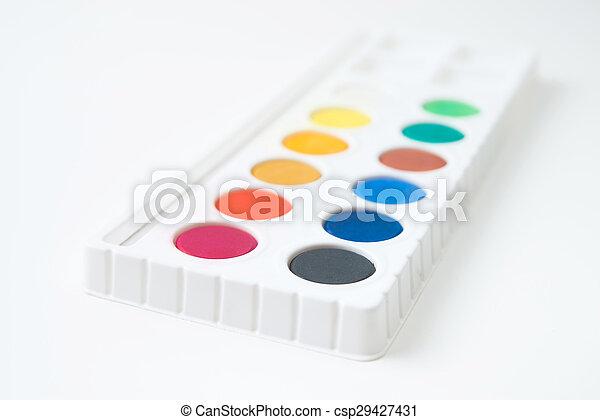 watercolor paint - csp29427431