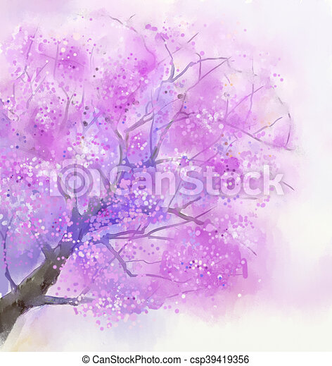 Watercolor painting cherry blossom abstract flower watercolor watercolor painting cherry blossom csp39419356 mightylinksfo