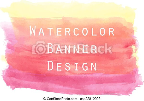 Watercolor painting for banner background design. - csp22812993