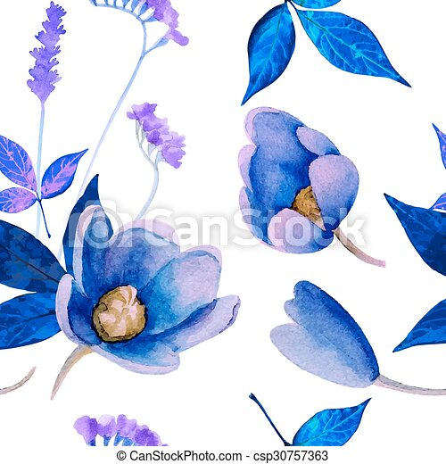 Watercolor pattern - csp30757363