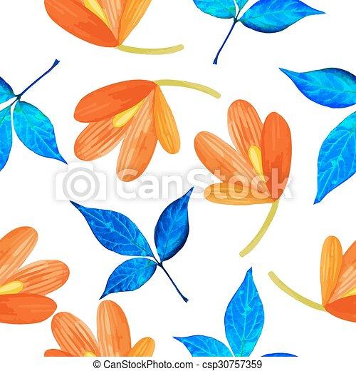 Watercolor pattern - csp30757359