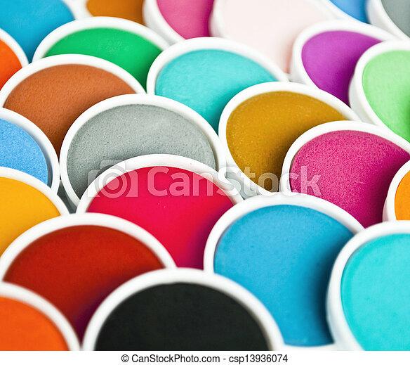 Watercolor pattern - csp13936074