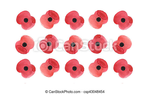 Watercolor poppy flower remembrance day white background stock watercolor poppy flower remembrance day white background csp43048454 mightylinksfo