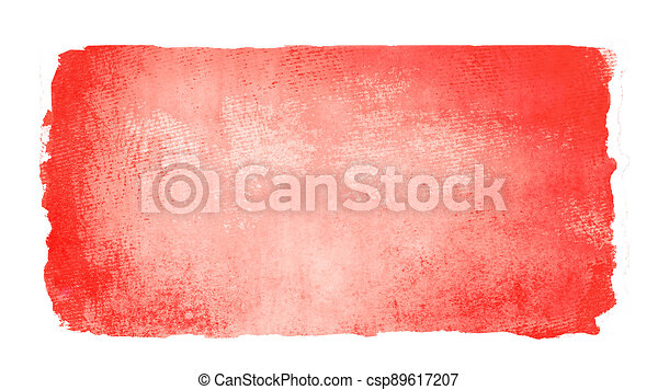 Watercolor rectangle background isolated on white - csp89617207