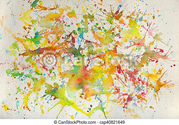Watercolor Splashes - csp40821649