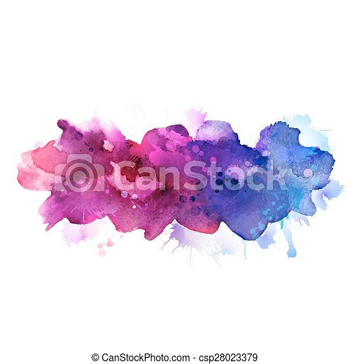 watercolor stains  - csp28023379