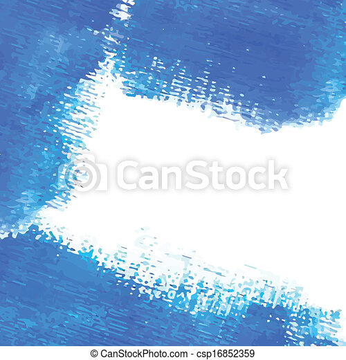 Watercolor vector banner with place for your text. Cold blue colors. - csp16852359