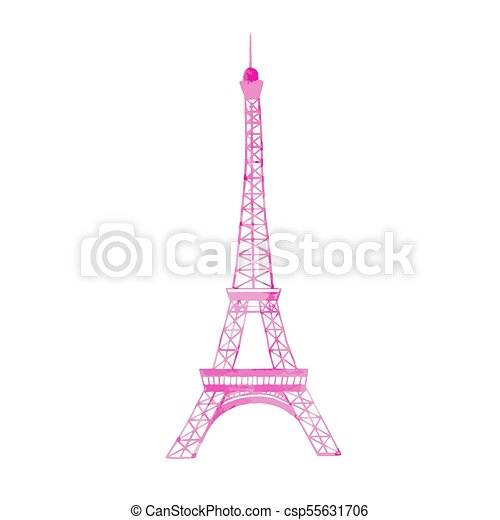 Watercolor vector eiffel tower beautiful vector illustration with watercolor vector eiffel tower thecheapjerseys Gallery