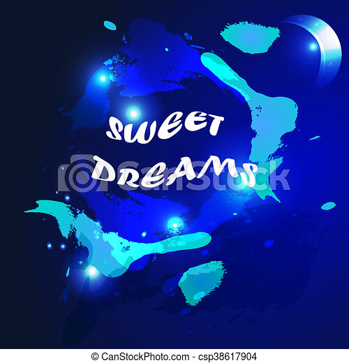 Watercolored Sweet Dreams Background