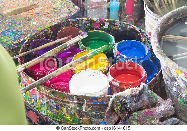 Watercolors - csp16141615