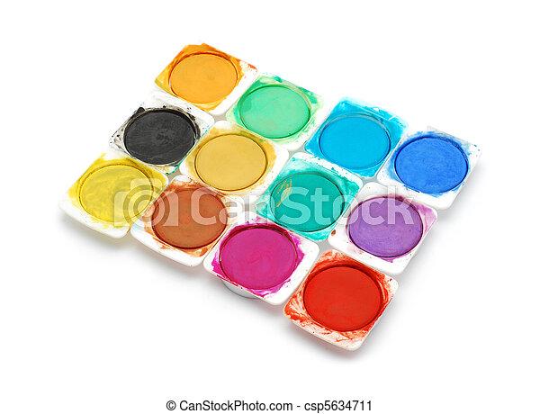 watercolors - csp5634711