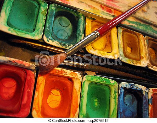 watercolors - csp2075818