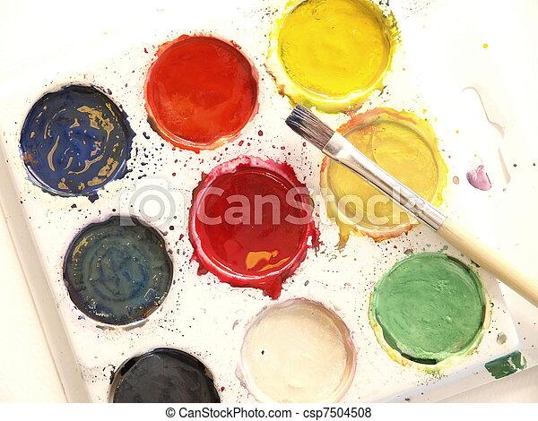 Watercolors - csp7504508