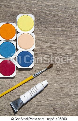 watercolors - csp21425263