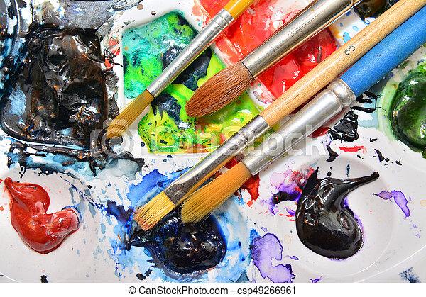 watercolors - csp49266961