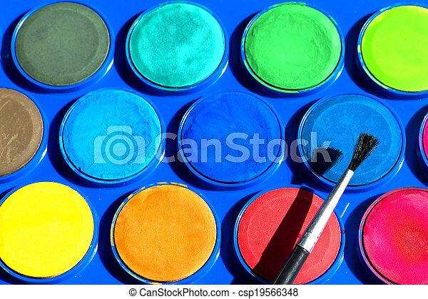 Watercolors - csp19566348