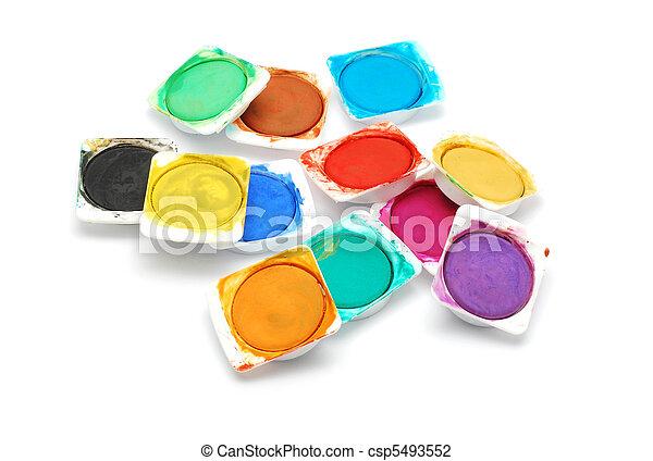 watercolors - csp5493552