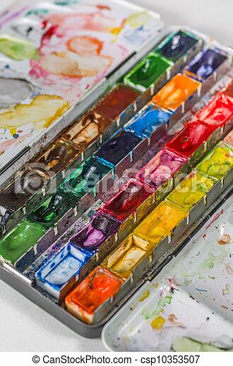 watercolors - csp10353507