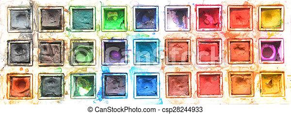 watercolors - csp28244933