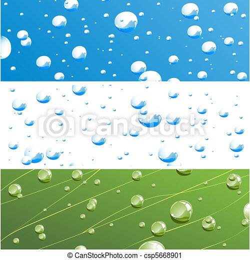 Gotas de agua - csp5668901