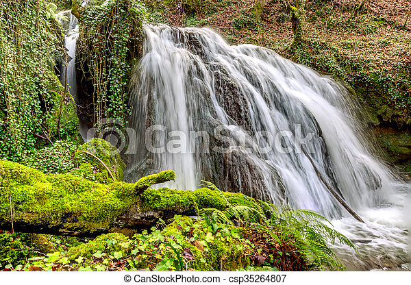 Waterfall Altube - csp35264807