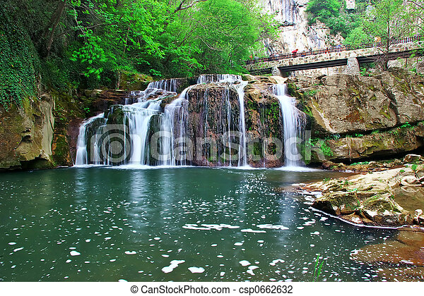 Waterfall at River Andaka - csp0662632