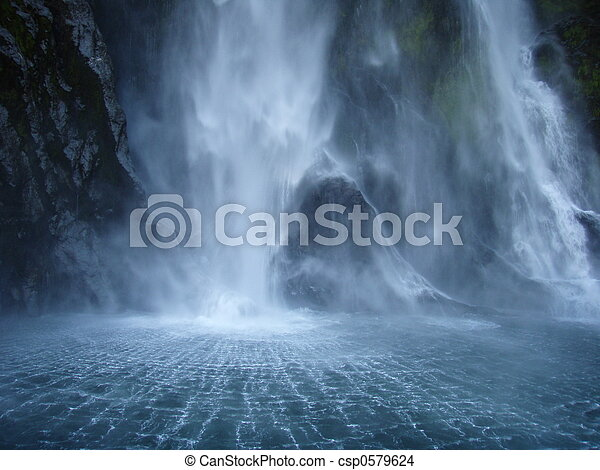 Waterfall backdraft - csp0579624