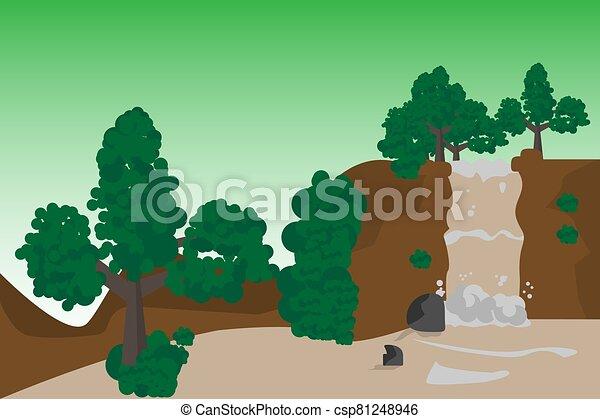 waterfall beauty - csp81248946