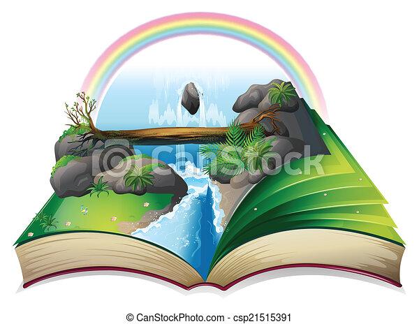 Waterfall book - csp21515391