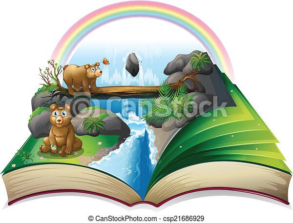 Waterfall book - csp21686929
