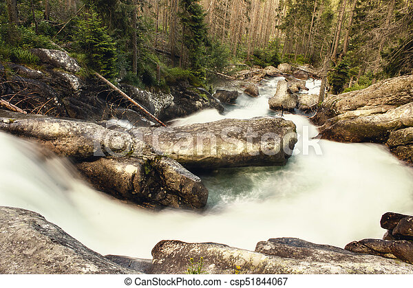 waterfall, fast river - csp51844067
